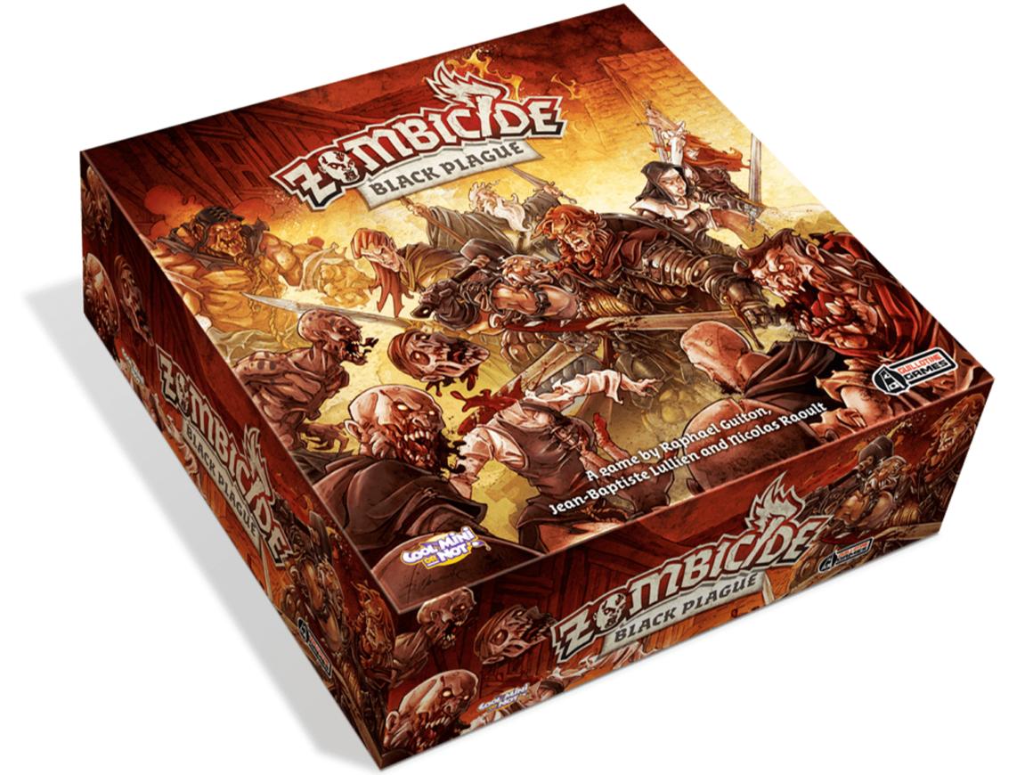 La scatola del board game Zombicide Black Plague