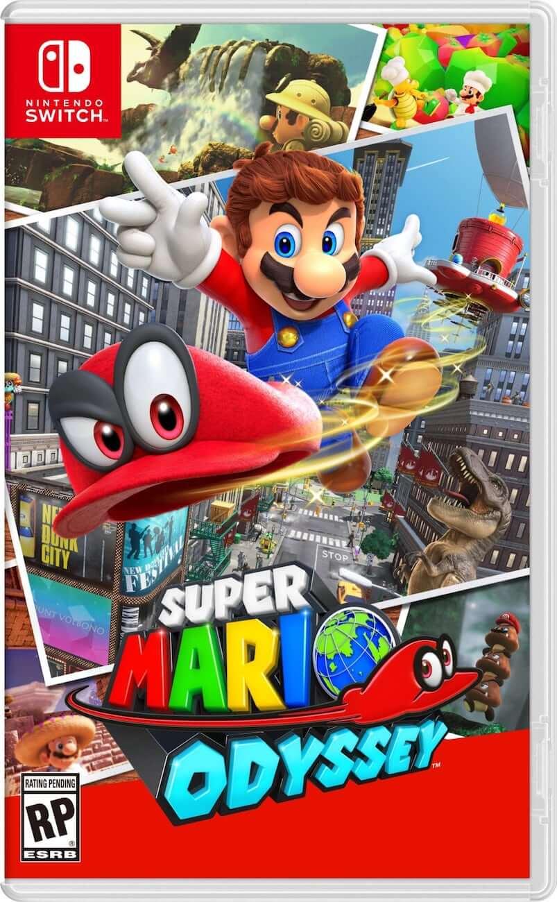 La confezione di Mario Odyssey per Switch