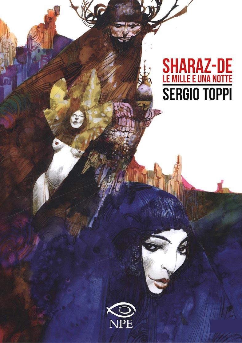 La copertina di Sherazade Le Mille e una notte di Sergio Toppi