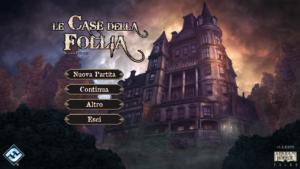 La schermata iniziale della app de Le case della follia