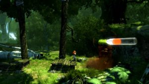 Uno screenshot di Max and the curse of brotherhood per nintendo switch