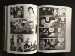 Una doppia pagina interna del fumetto Gli Orchi Dei - Piccolo