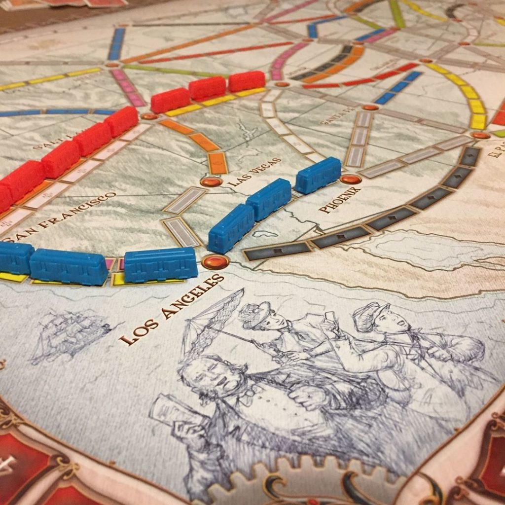 Ticket to ride in gioco
